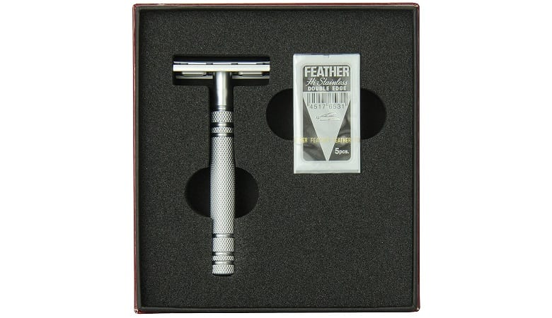 Feather All Stainless Double Edge Razor